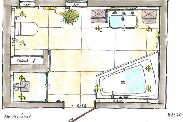 Unsere Badplanung wird mit Ihnen zusammen vorgenommen, damit auch jedes so wichtig Detail für SIe berücksichtigt wird.